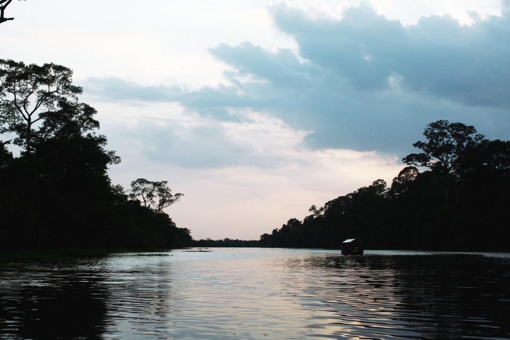 Evening boat ride around Angkor Thom moat