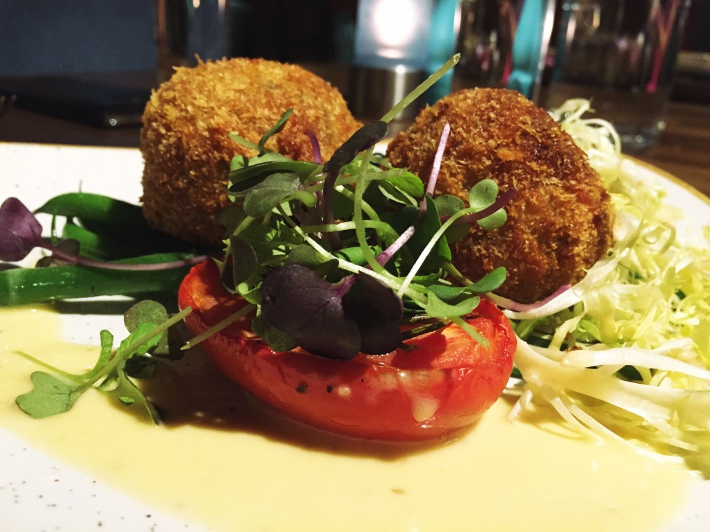 Meat-free goodness in the form of vegetable cakes