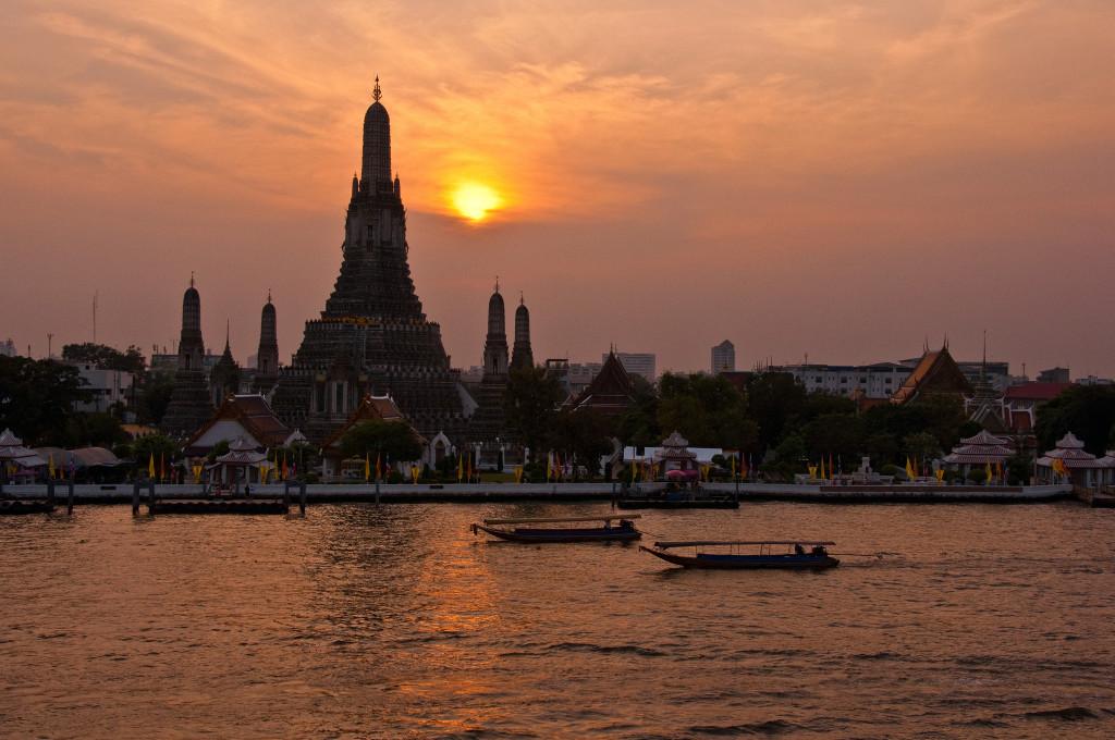 Behind Wat Arun sunset. Photo: Mark Fischer/Flickr