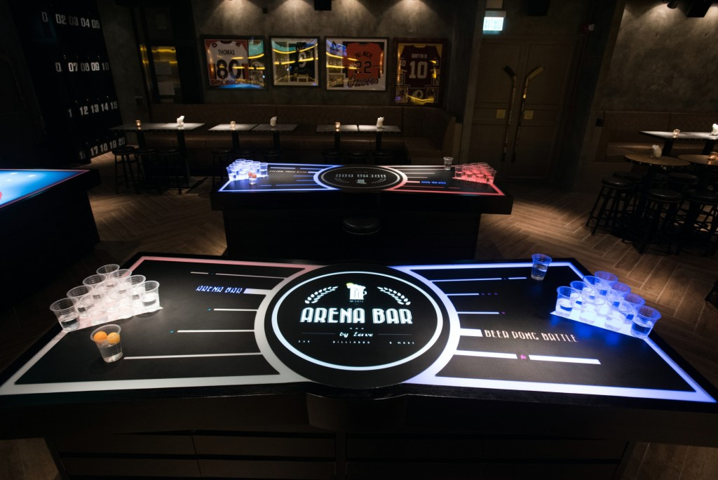 Beer Pong Table at Arena Bar by Zerve