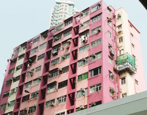 Hong Kong's Pink Apartments