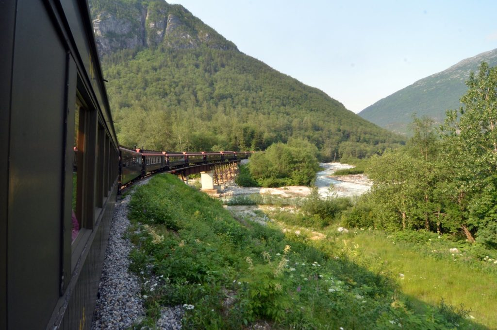White Pass and Yukon Railroad. Photo: Roman Alvarado Lopez