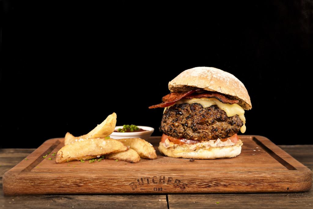 That's one fat Butchers Club burger. Photo: J Maloney