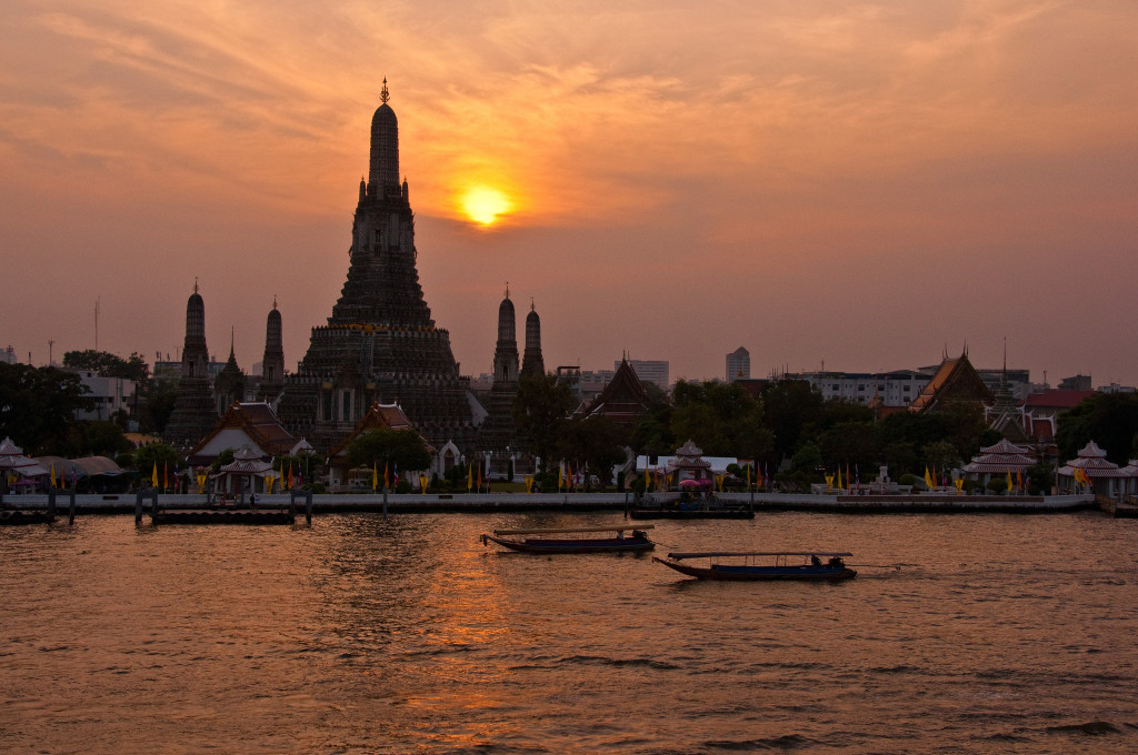 Behind Wat Arun sunset. Photo: Mark Fischer/Flickr