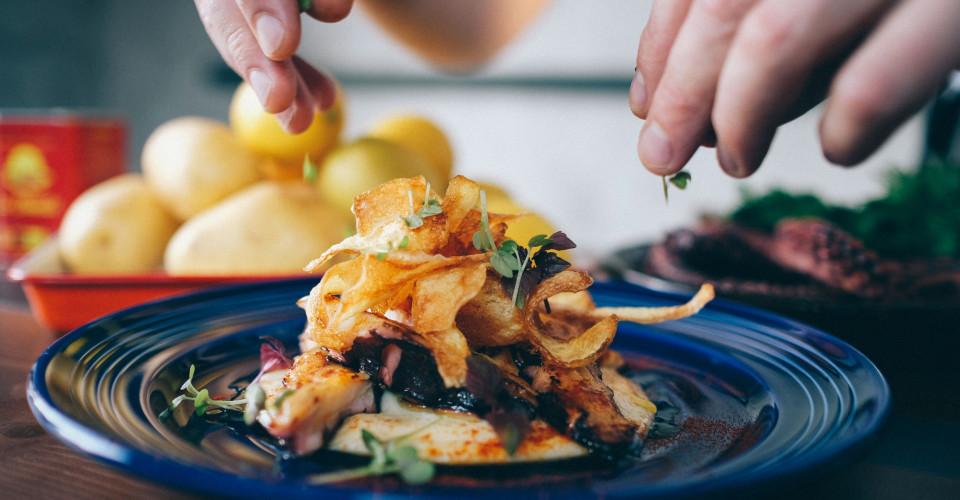MyHouse - Octopus, garliclemon whipped potato, chili and smoked paprika_Fotor