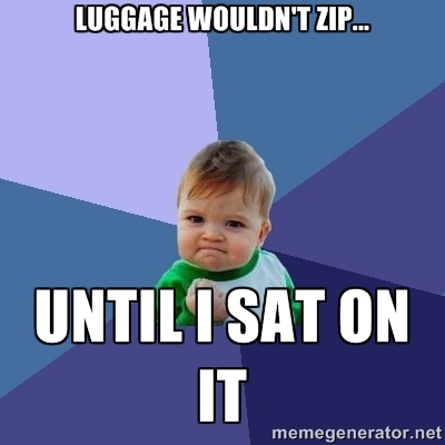 Meme _- Success Kid - Luggage wouldnt zip until I sat on it
