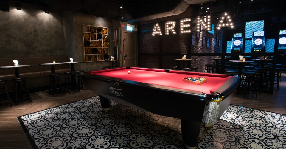 Pool Table at Arena Bar by Zerve