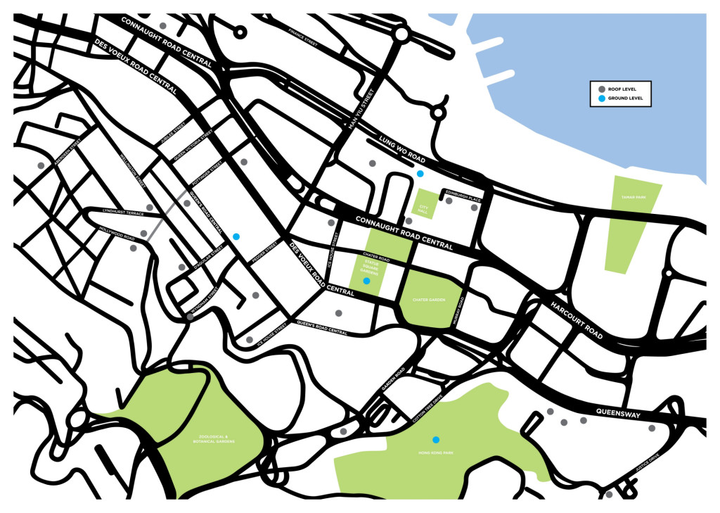 Event Horizon - Map of Hong Kong Installation