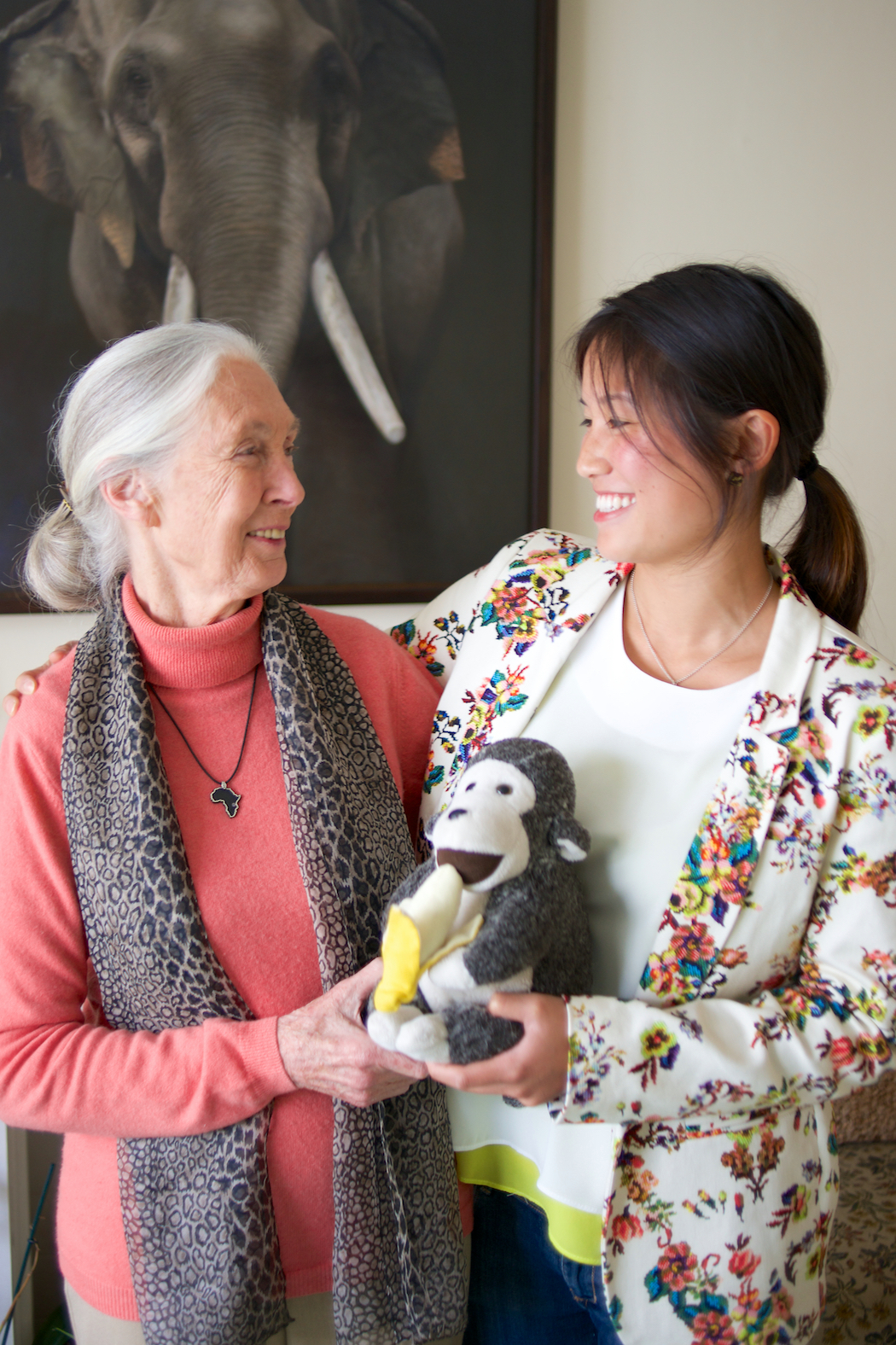 Laurel Chor and Jane Goodall