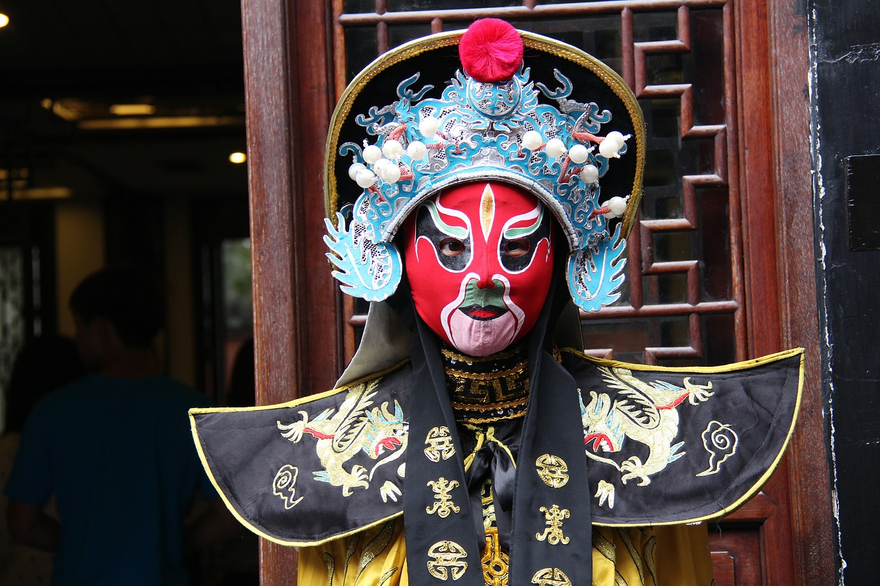 A Chinese opera performer in Chengdu.