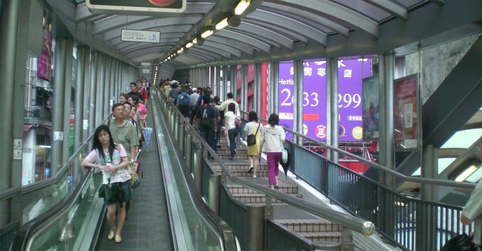 Mid-Levels Escalator. Photo: Wikipedia Commons
