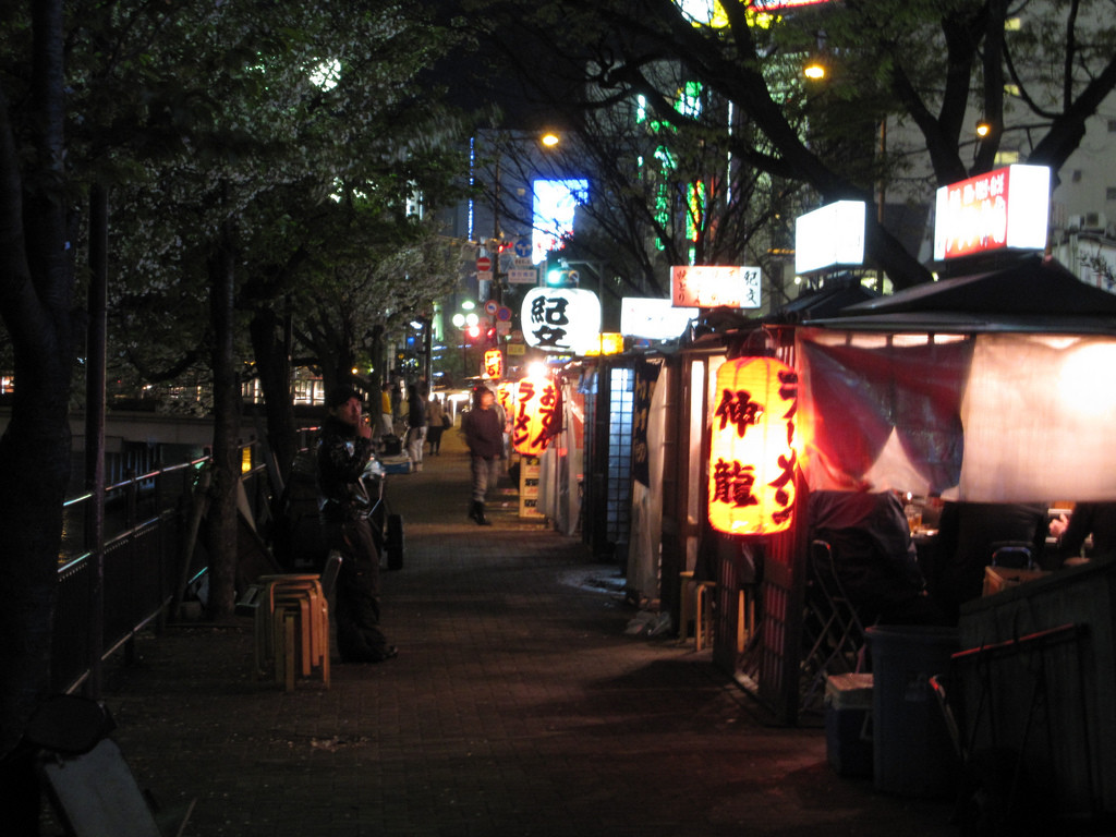 Fukuoka yatai by the river. Photo: gaku/ Flickr