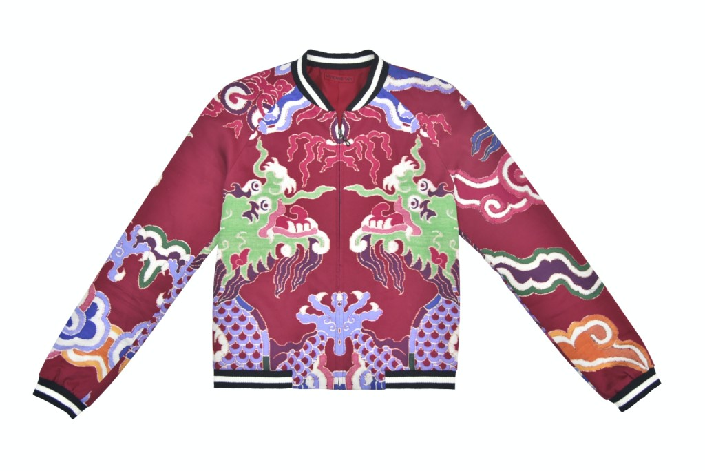 Vivienne Tam - Dragon Printed Satin Cotton Bomber Jacket (HK$4,550)