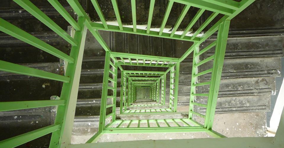 Spiral Staircase Hong Kong. Photo: Ksionic/Flickr