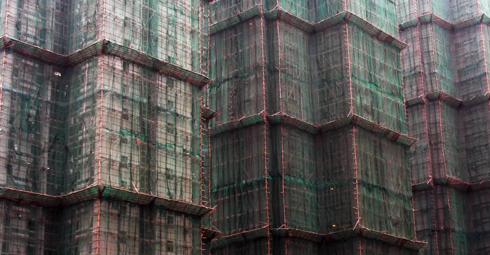 The power of bamboo scaffolding. Photo: Ioan Sameli/Flickr