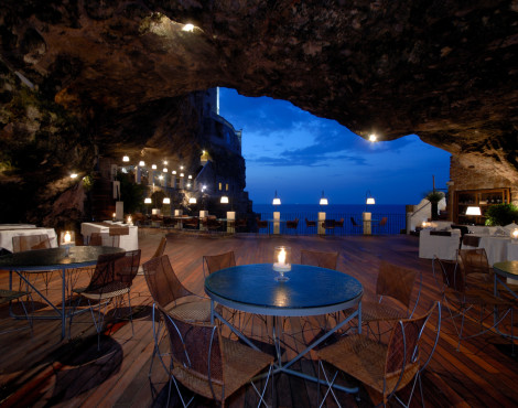 Dine at Grotta Palazzese