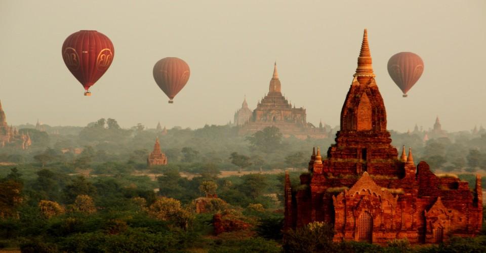 Ballooning over Bagan, Myanmar