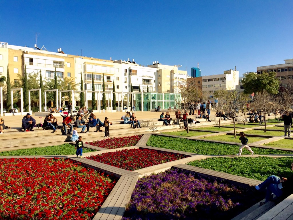 HaBima Square at the end of Rothschild Boulevard