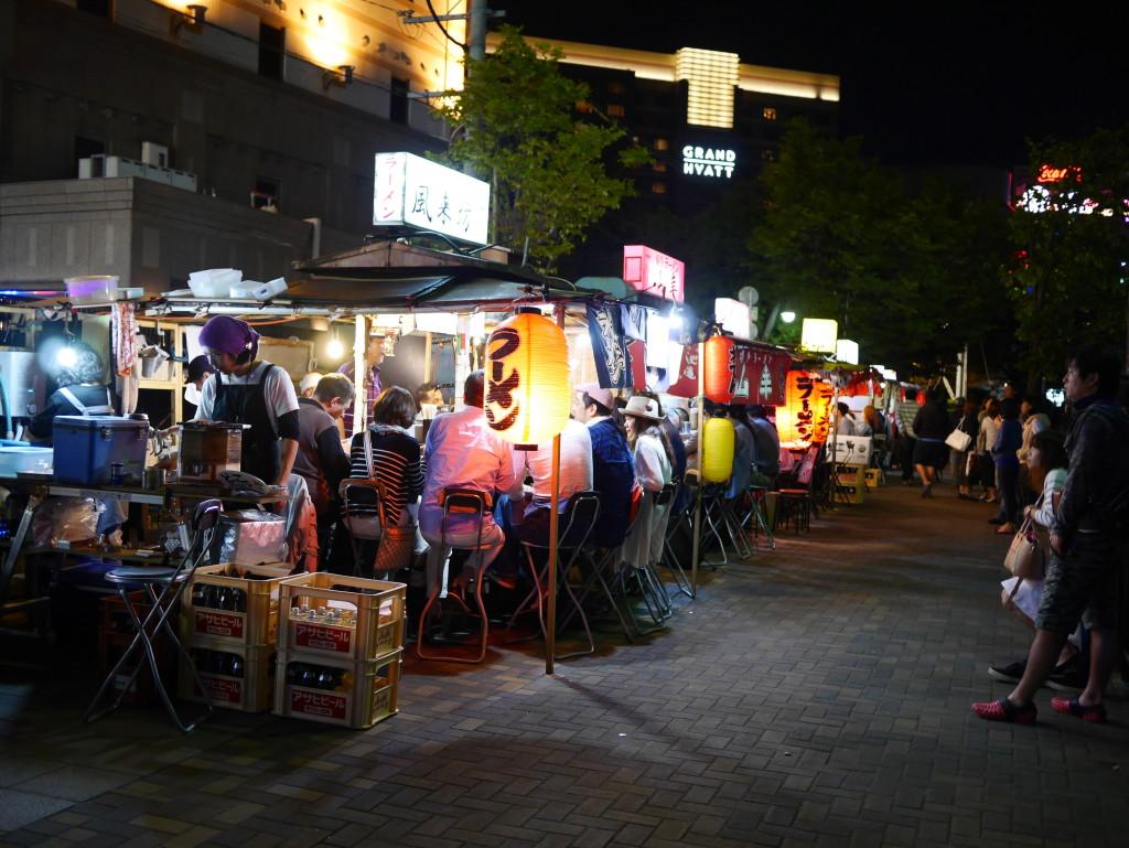 Yatai stalls along Fukuoka canal