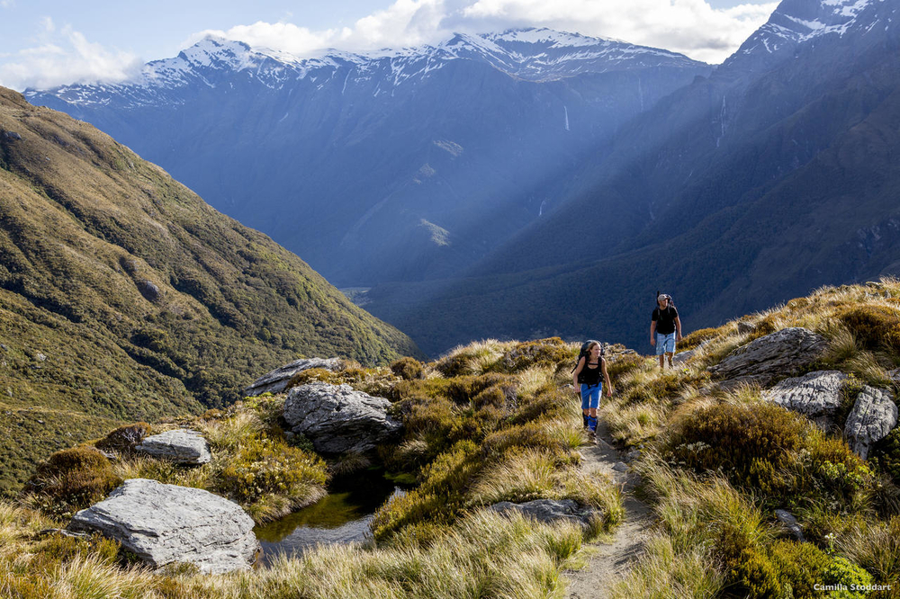 Hiking the French Ridge Track at Mt Aspiring National Park near Lake Wanaka is a popular Queenstown day trips. Photo: Camilla Stoddart / Flickr CC