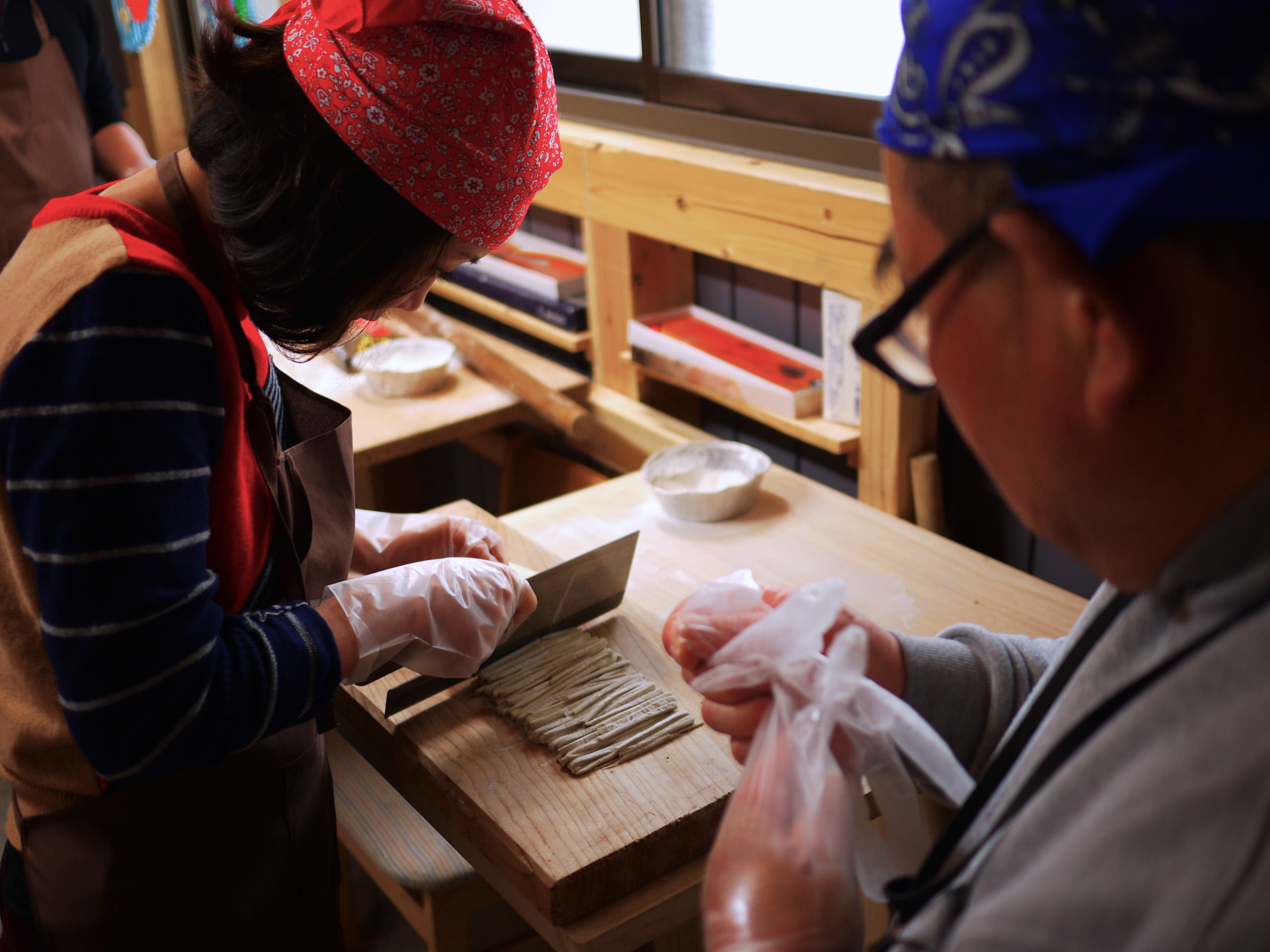 Soba-making at local villager's home