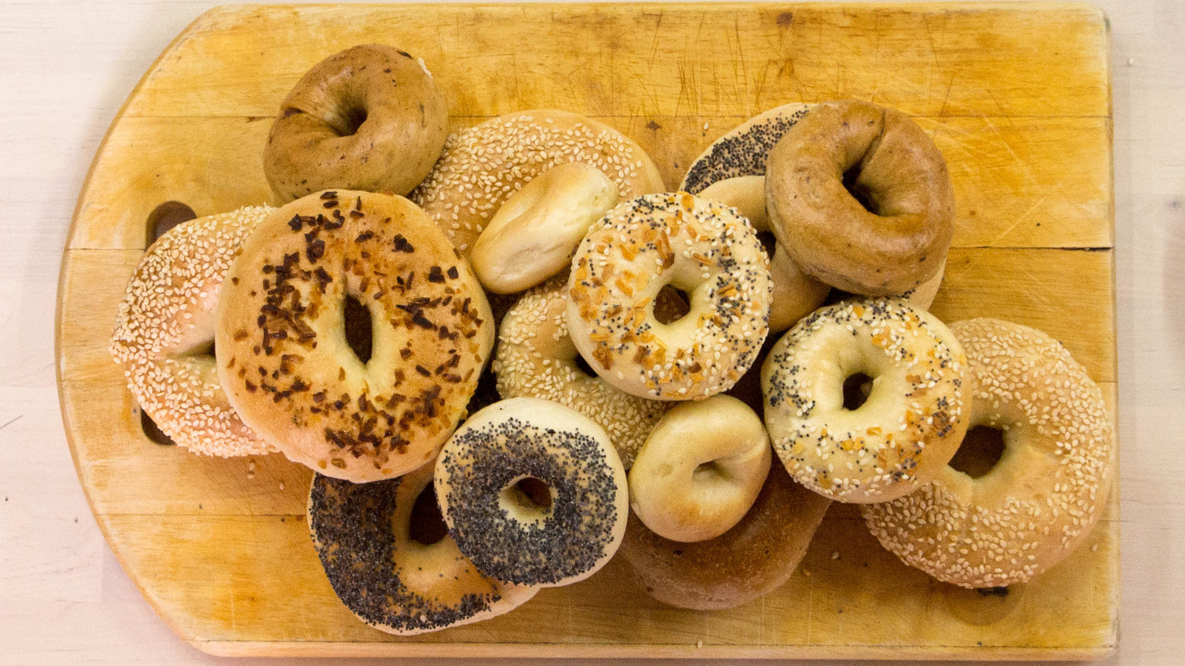Schragels' bagels. Photo: Joseph Lam