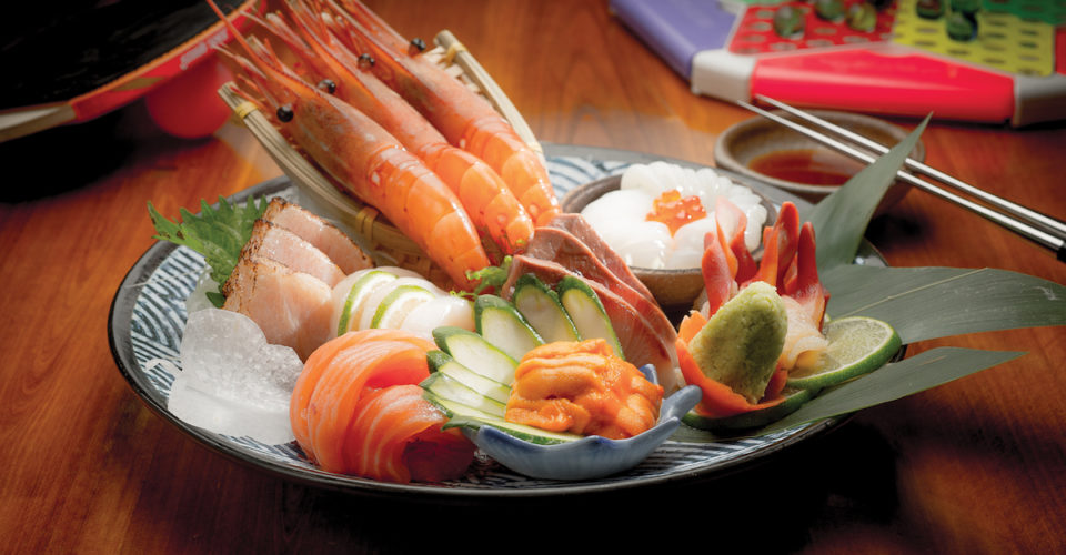 Gakuensai sashimi platter