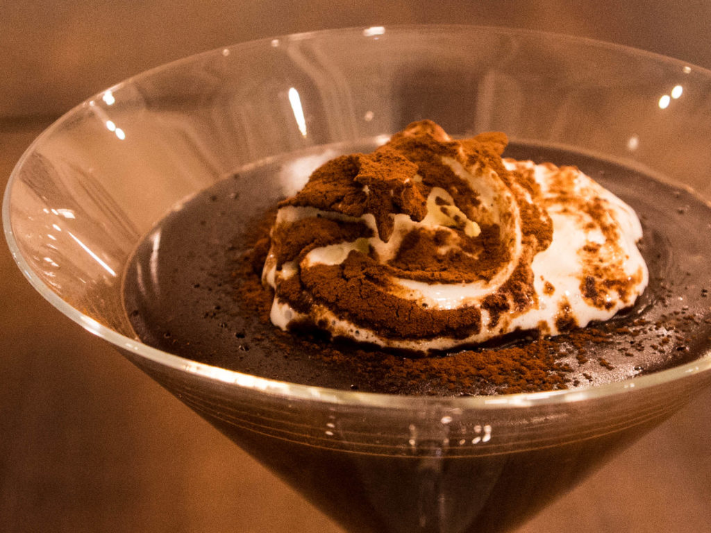 Warm chocolate Mousse. Photo: Joseph Lam