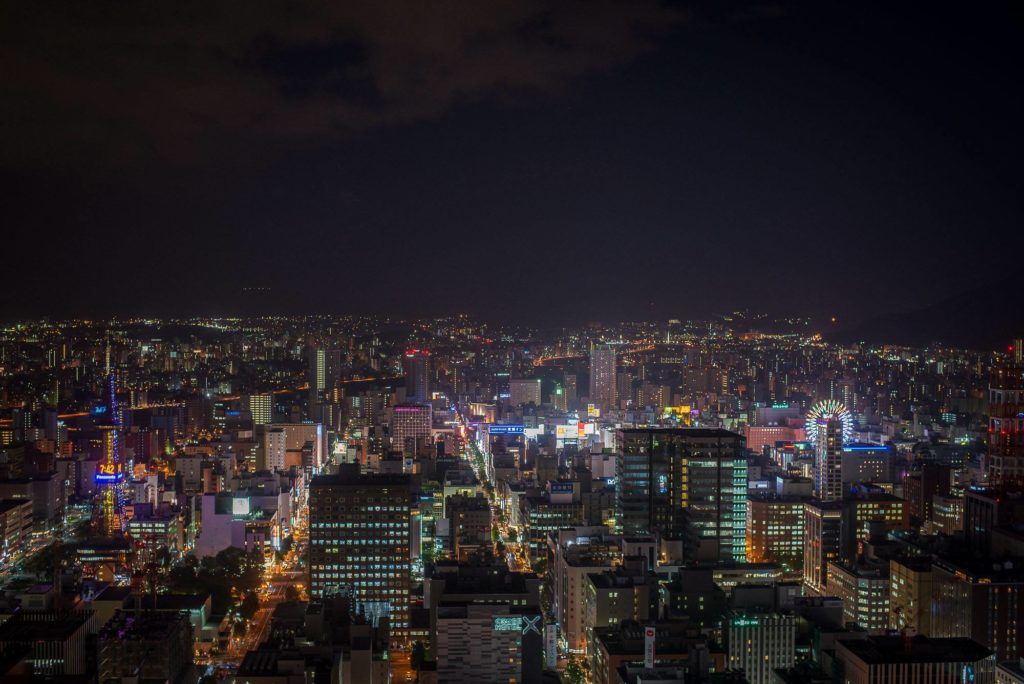 Sapporo by night. Photo: matthewbarlowphotography.com
