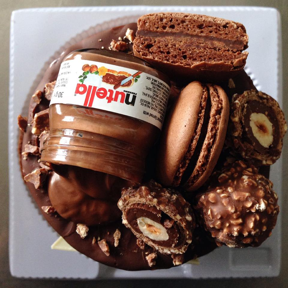 Butter Crumbs' Nutella Cake