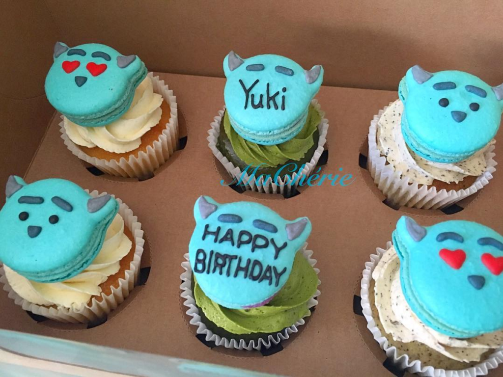 MaCherie Cake Shop's custom birthday cupcakes