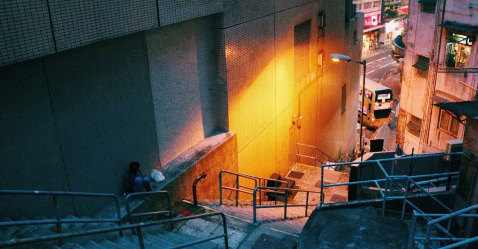 Sheung Wan staircase to Gough St by Sunny Li