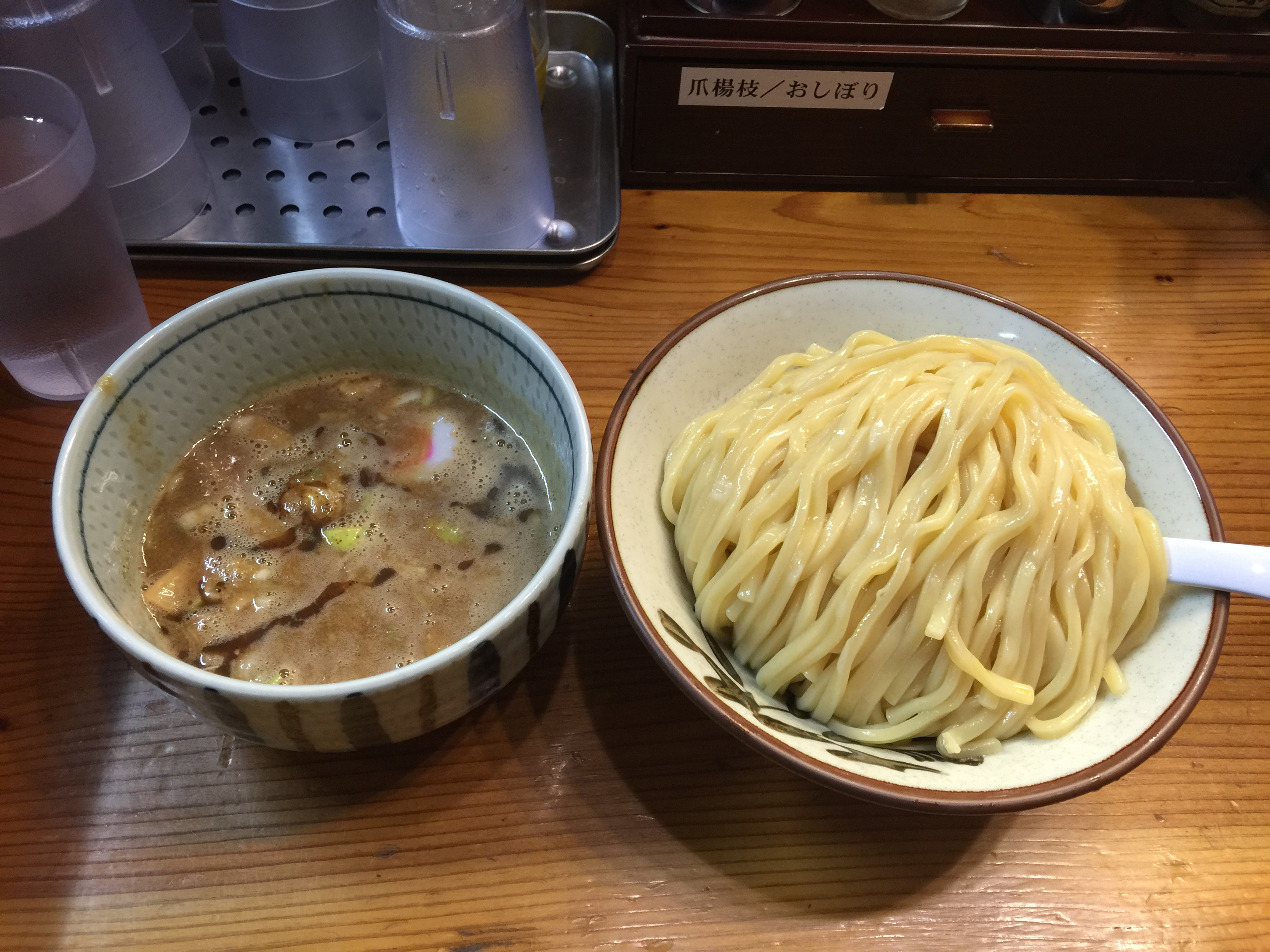 Ginza Oborozuki - a very small tsukemen shop in Ginza with 7 seats only