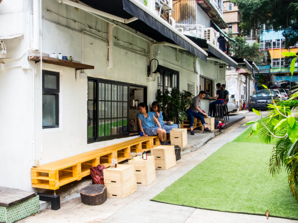 Teakha's outdoor area. Photo: Joseph Lam