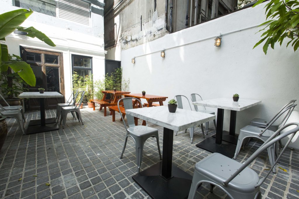 Feather and Bone's terrace