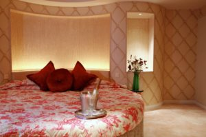 A themed suite at The Luxe Manor