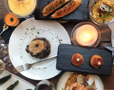 A sea urchin V-Day menu at One Minden Tapas Kitchen