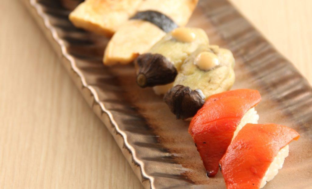 Vegetarian sushi atIsoya Japanese Vegetarian Restaurant