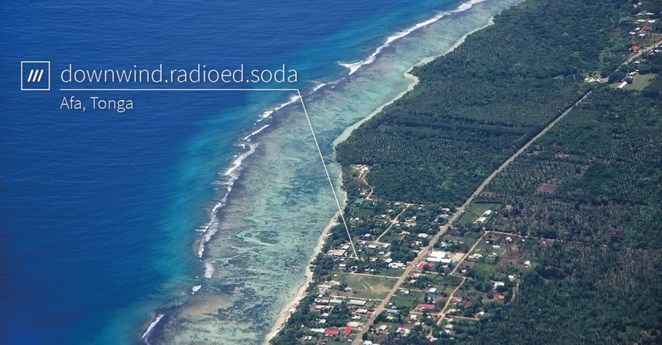 what3words maps out a pristine beach in Tonga.