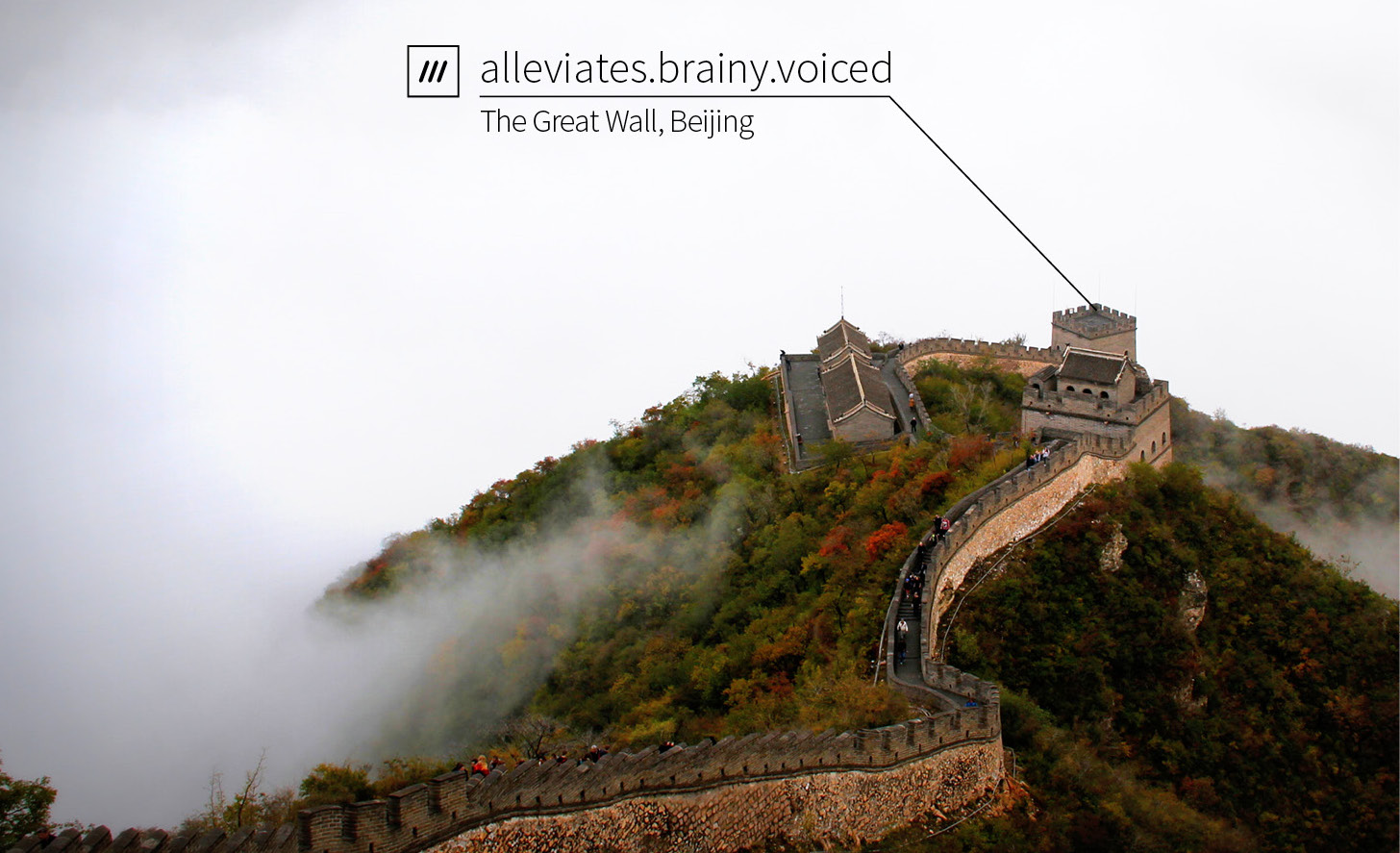 The Great Wall of China, according to what3words