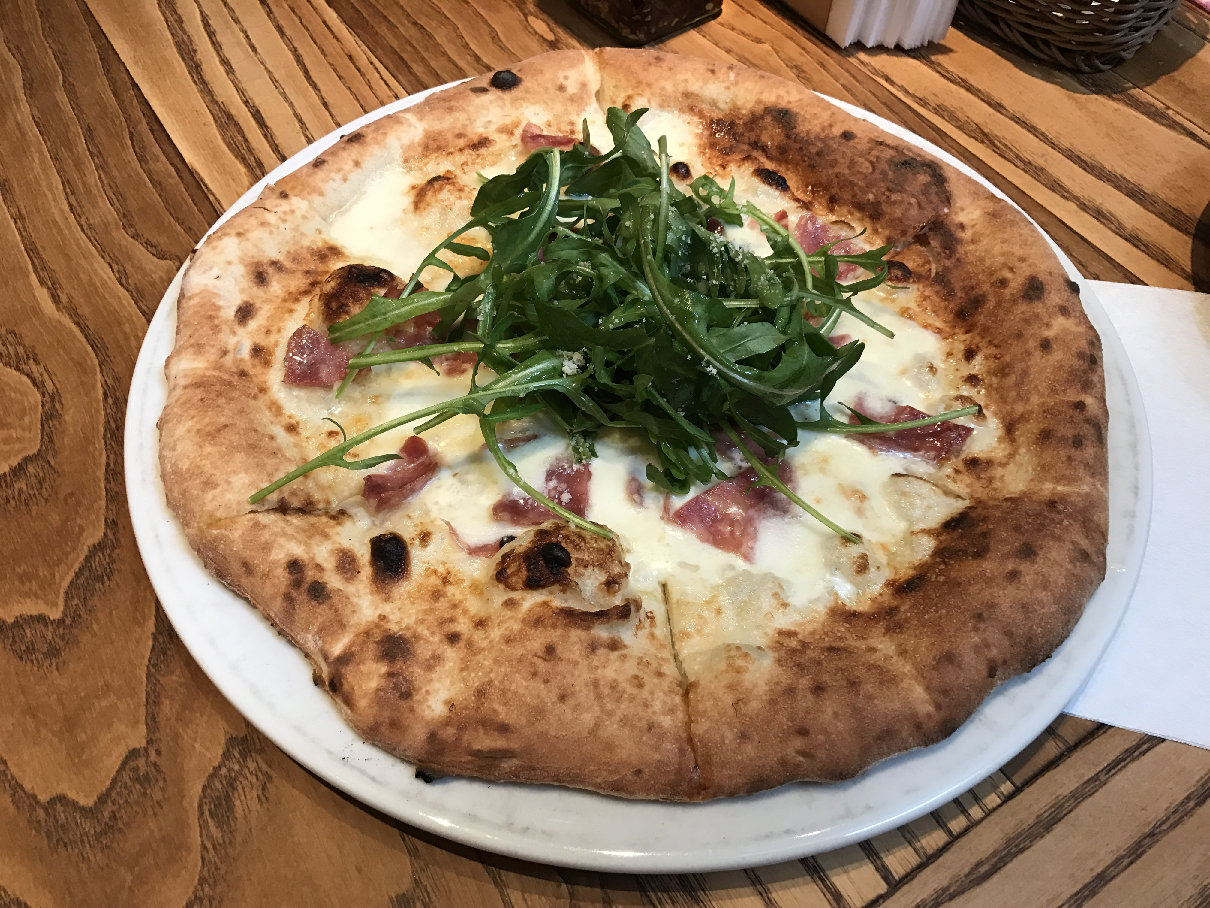 The most delicious pizza at Del Sole baked in wood fire oven Photo: Johana Shobu