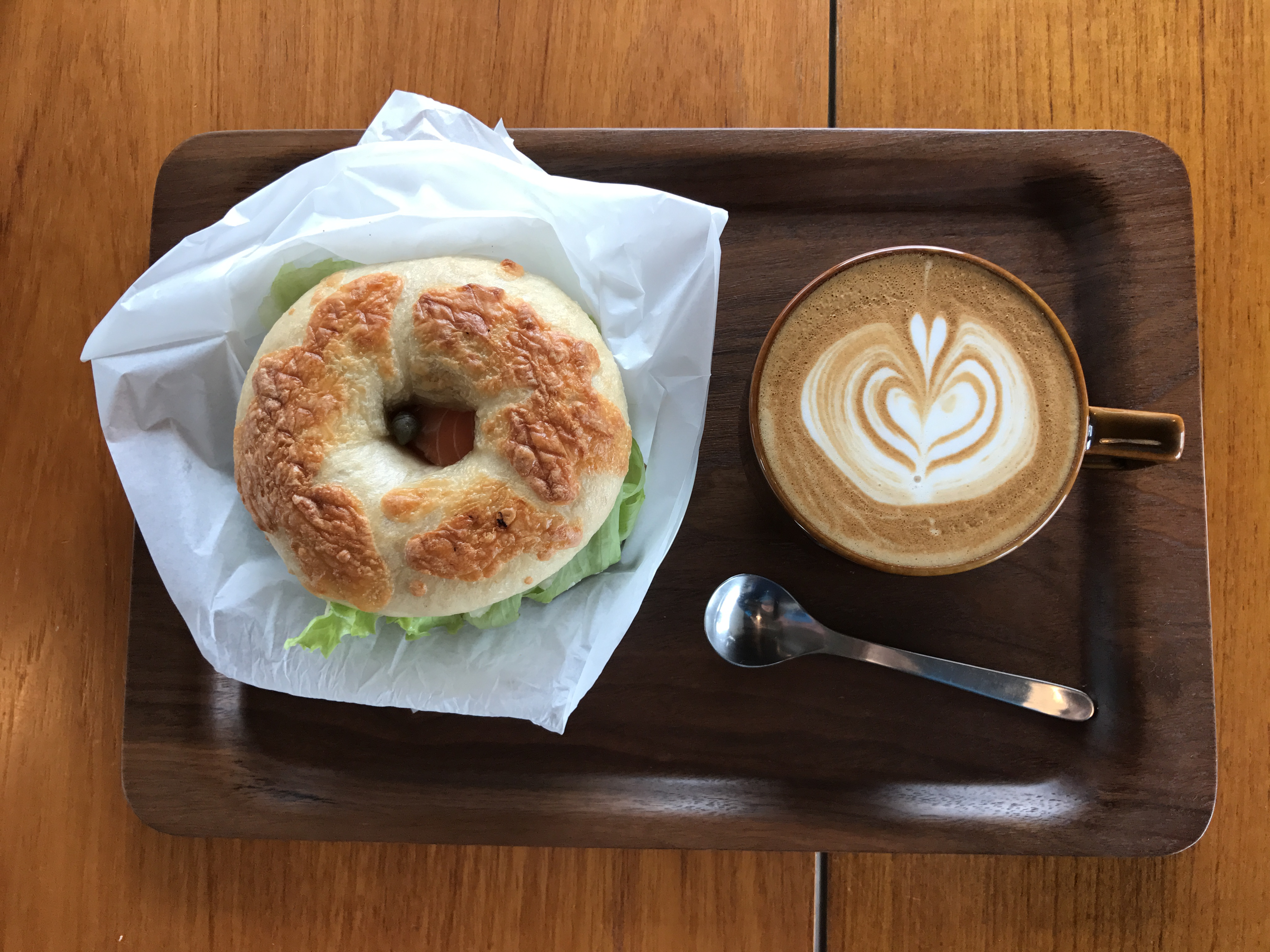 The best bagel and coffee at Seed Bagel & Coffee Company Photo: Johana Shobu