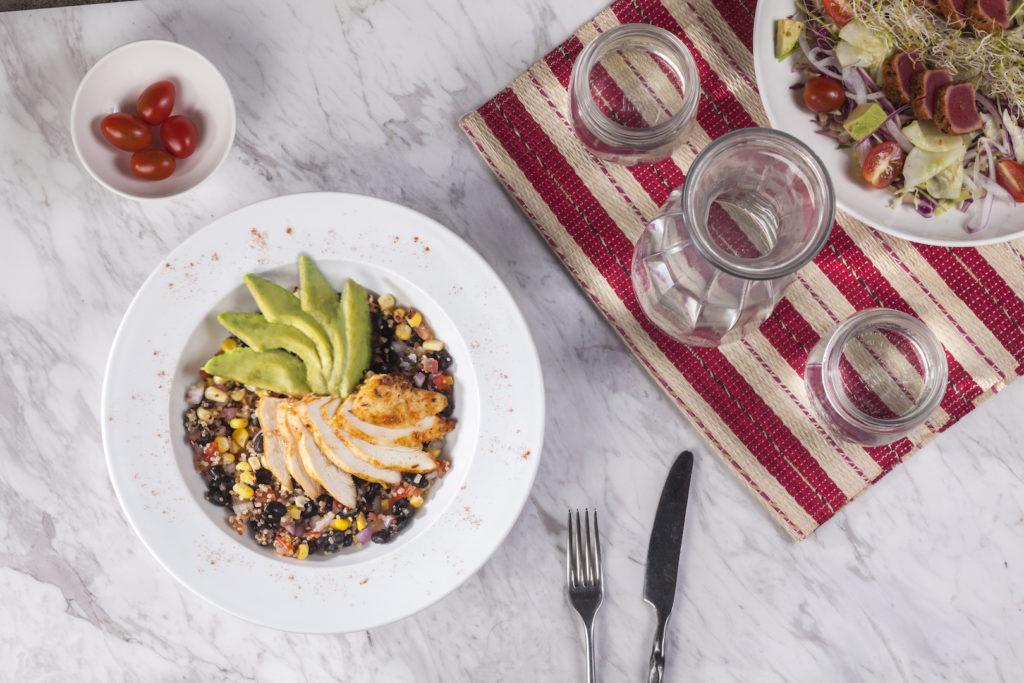 NOSH Free Range Chicken with Avocado, Black Beans, and Quinoa Salad