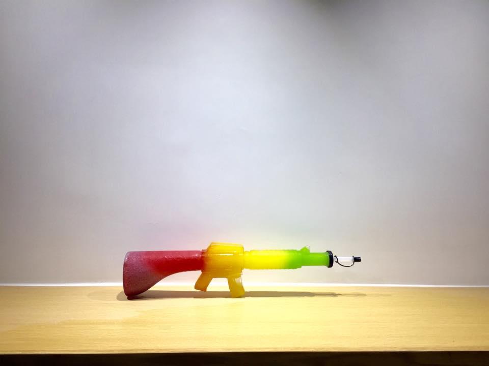 Little Job's rainbow slushie gun