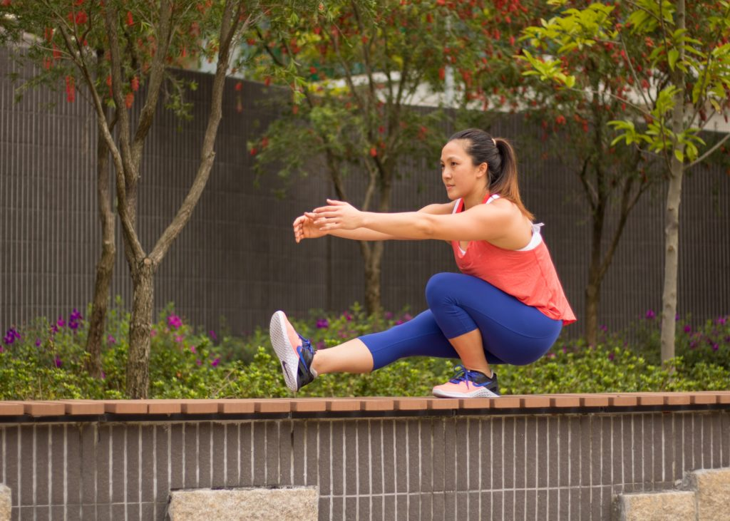 Take your circuit outdoors for more functional strength. Photo: Emma Chan
