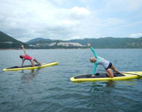 Next Up: Dee and Nadine of SUP Yoga Hong Kong