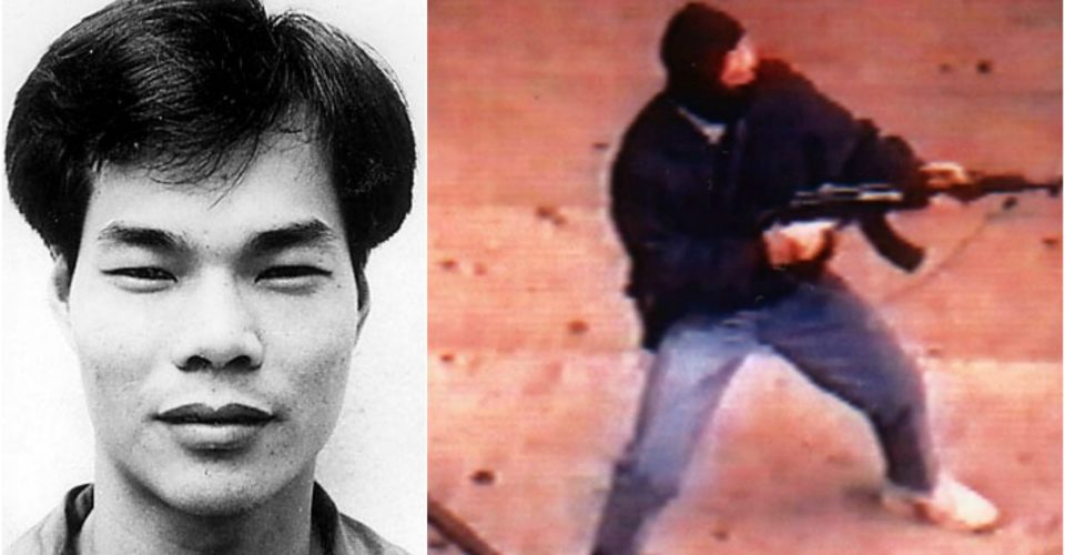 Yip Kai-Foon, and footage that is believed to be him in a mask