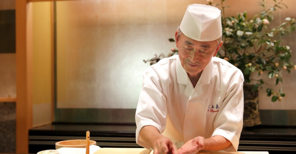 Chef Imada Nigiri at the Ritz-Carlton