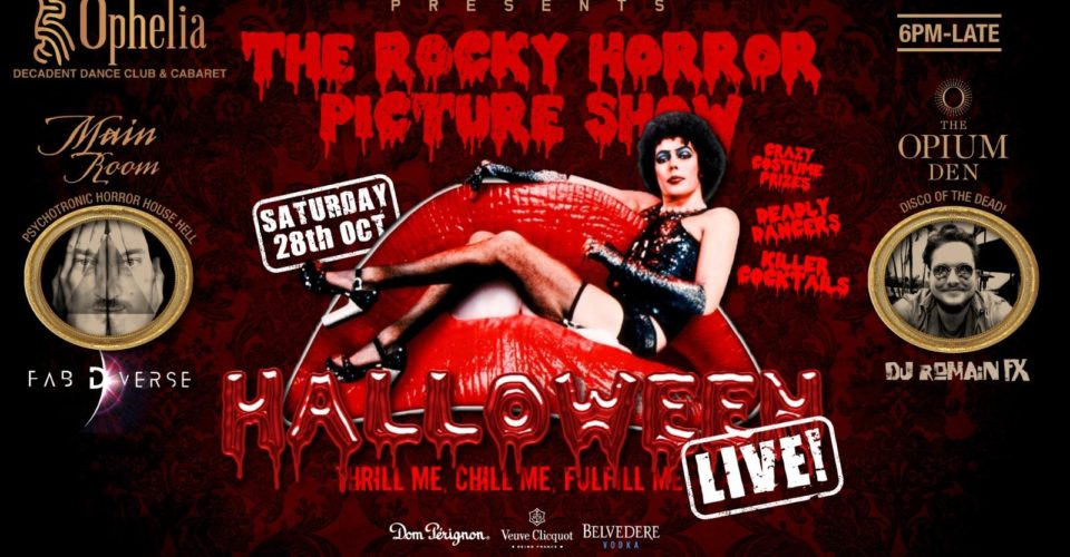 Ricky Horror Halloween at Ophelia