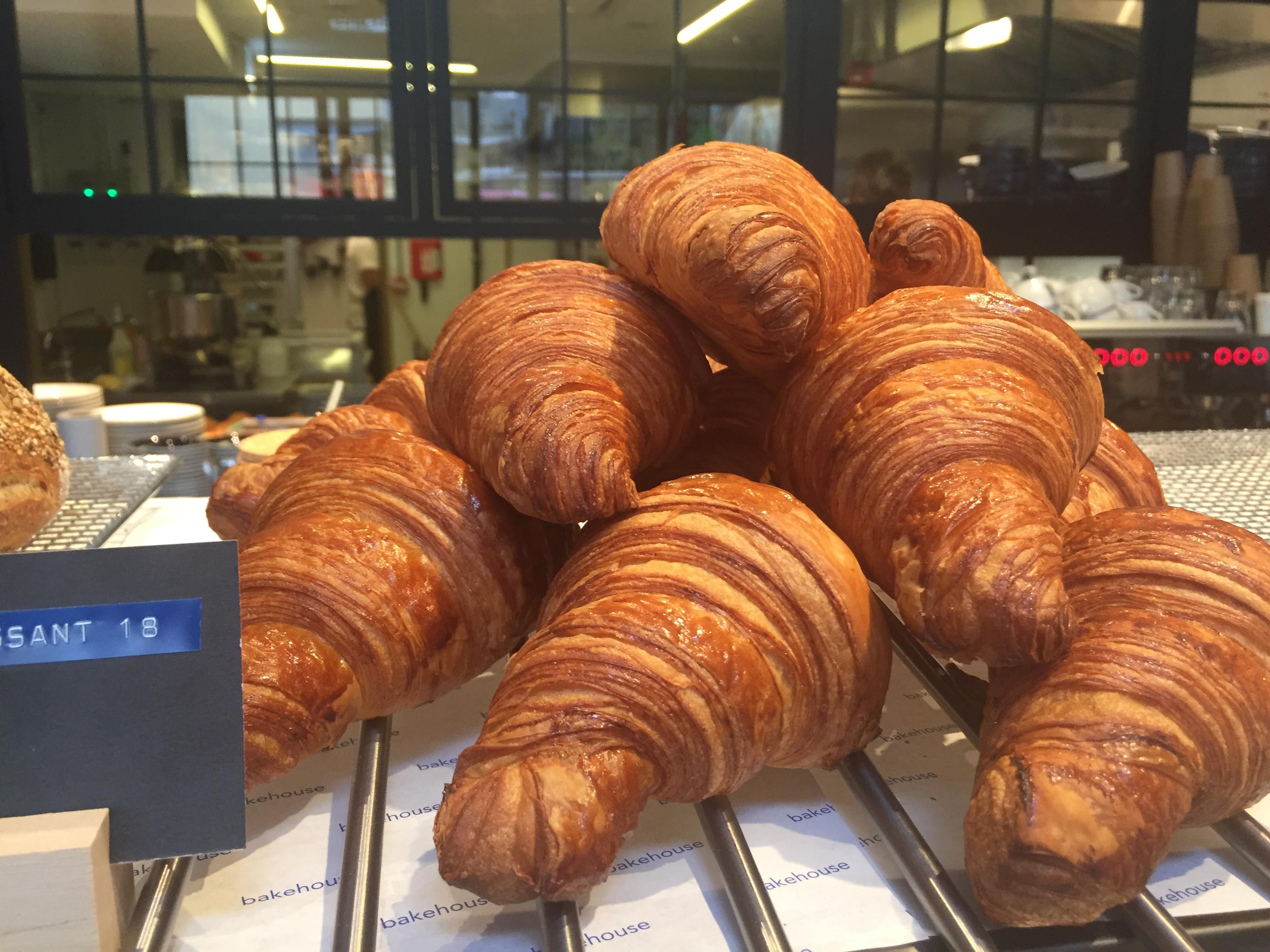 Freshly baked croissants at Bakehouse